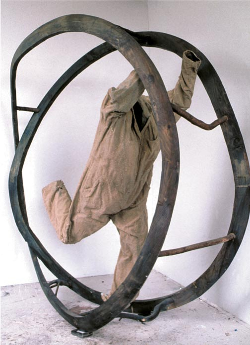 "michael krynski sculpture ""western direction"" mixed media"